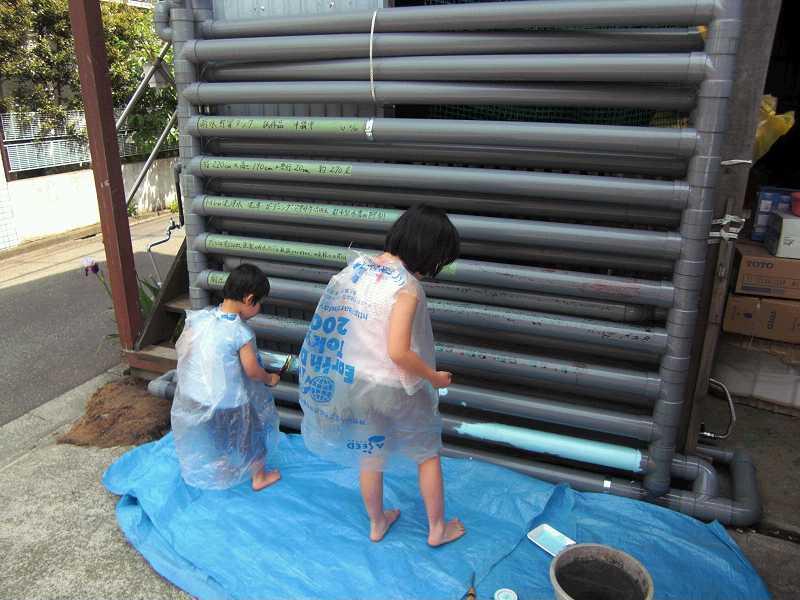 ↪雨水タンク自作Ⅰ フェンス型